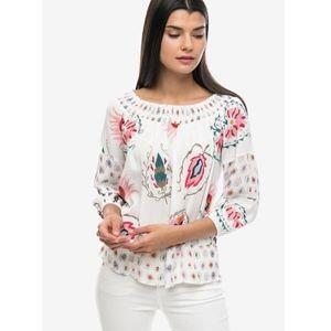 DESIGUAL   Off-Shoulder Paisley Floral Top Boho